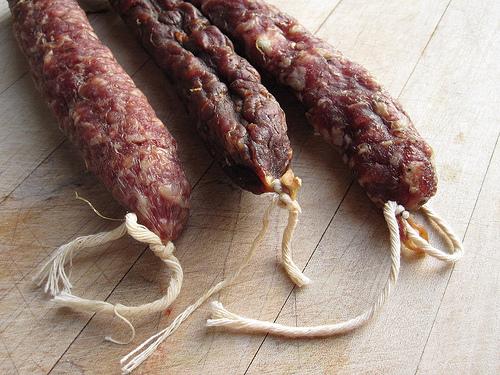 home cured salami, chorizo and saucisson sec