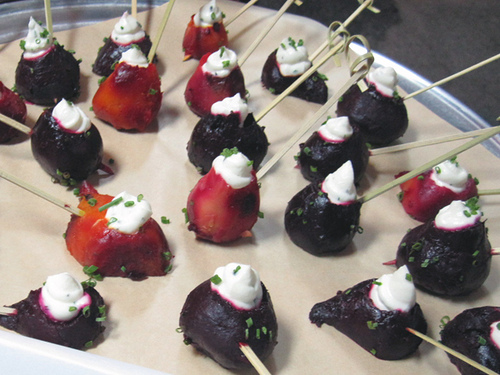 Roasted Beets with Goat Cheese and Chives