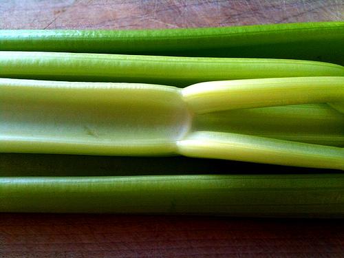 green celery stalks