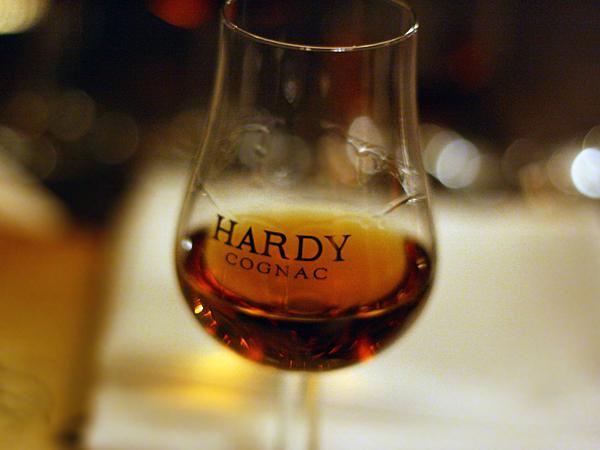 Hardy Cognac, logo glass