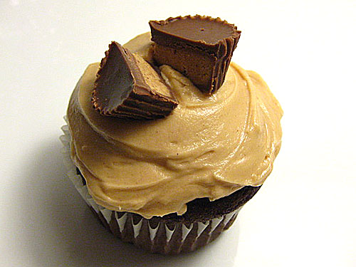 Devils Food Cupcake with Peanut Butter Frosting