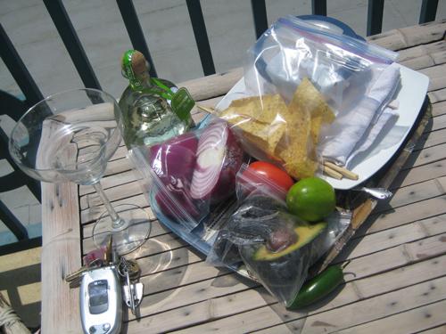 patron-tequila-pool-ceviche-setup