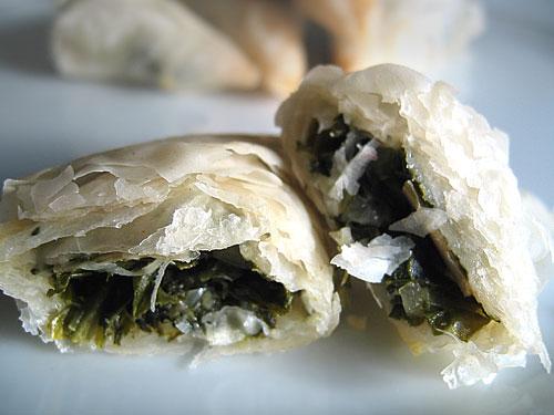 Spanakopita Greek Spinach and Feta Phyllo Triangles Recipe ...