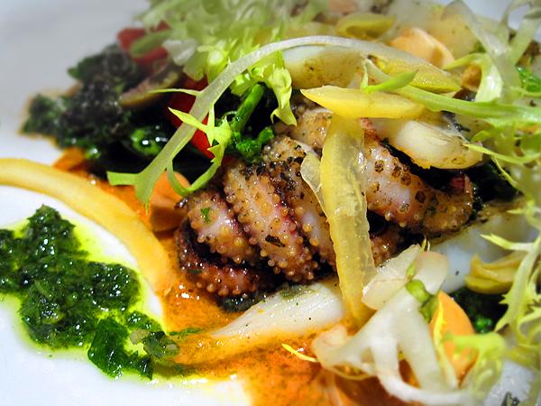 wilshire restaurant, santa monica - octopus salad