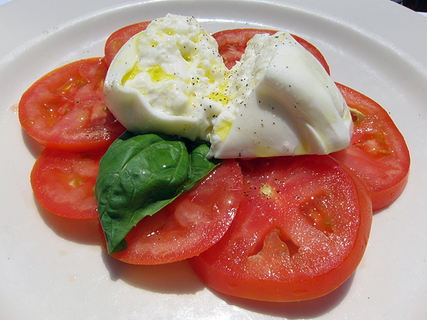 Sor Tino Restaurant, Brentwood - Caprese with Burrata