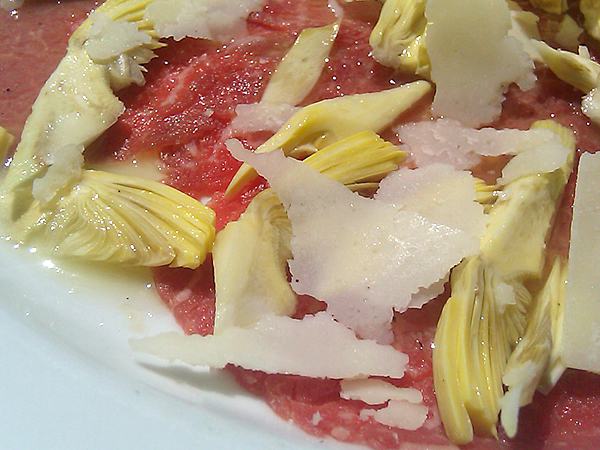 Sor Tino Restaurant, Brentwood - Carpaccio with Shaved Baby Artichokes