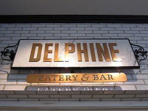 Delphine, W Hotel, Hollywood - Sign from Hotel Side Entrance
