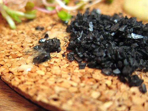 Black Salt for French Radishes, Vegetable Dinner at Animal