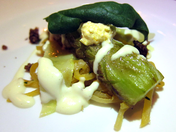 Celtuce, Vegetable Dinner at Animal Restaurant