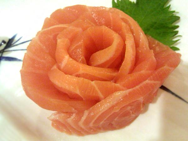 Salmon Sashimi at Sato Sushi, Fullerton