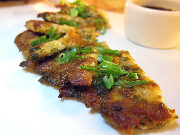 Korean Fusion Food - Mung Bean Pancake