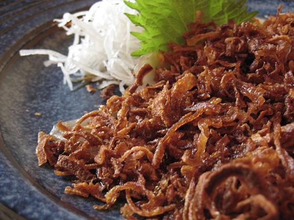 Izakaya by Katsu-Ya - Seared Albacore Sashimi with Crispy Fried onions