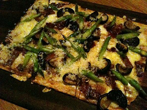Westside Tavern - Asparagus Shiitake Flatbread