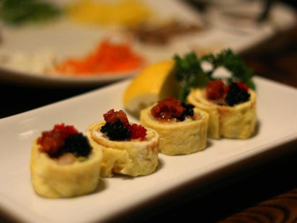 LaOn Dining {korean} - fish and caviar wrap