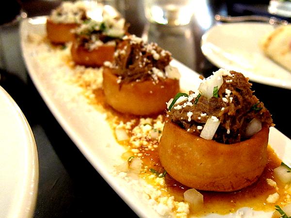 Red O Restaurant by Rick Bayless - Short Ribs Sopes