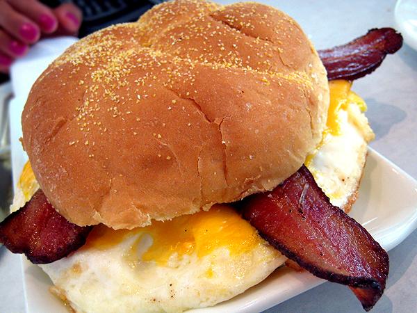 Bottega Louie, downtown LA - Bacon Egg Sandwich
