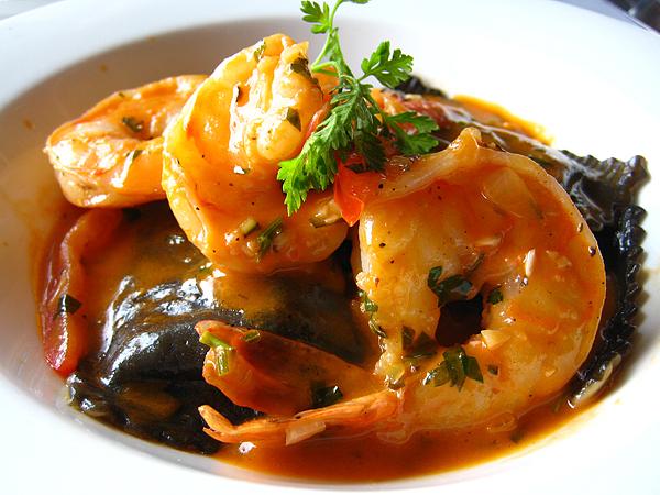 The Lobster, Santa Monica Pier - Ravioli with Shrimp
