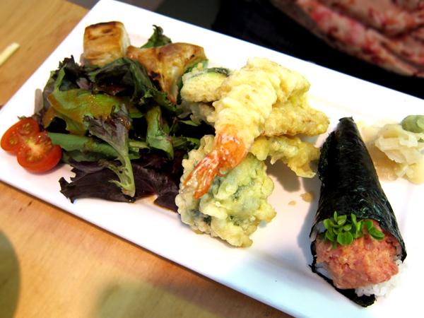 Taiko, Brentwood - Gyoza Tempura Hand Roll Lunch