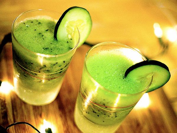 Kiwi Cucumber Cocktails by Angela Santana
