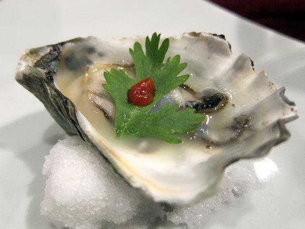 Jinpachi - Omakase, Kumamoto Oyster with Yuzu