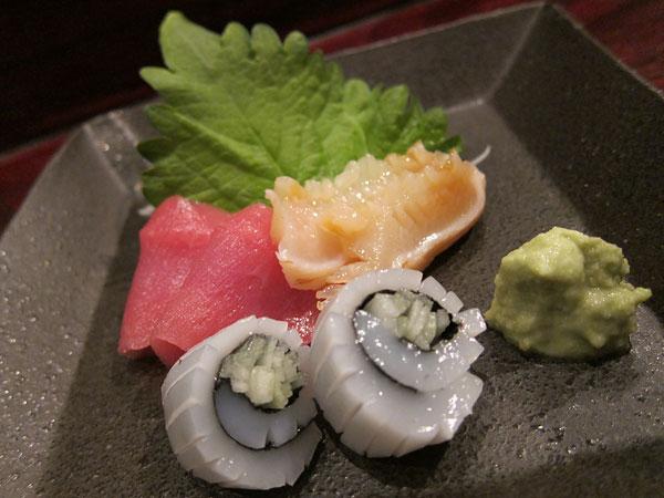 Jinpachi - Omakase, Bluefin Tuna + Mirugai + Squid