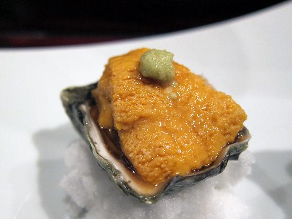Jinpachi - Omakase, Uni on Oyster
