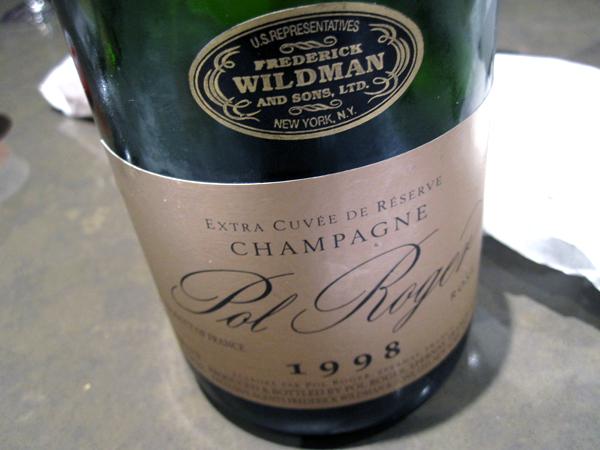 Champagne Pol Roger 1998