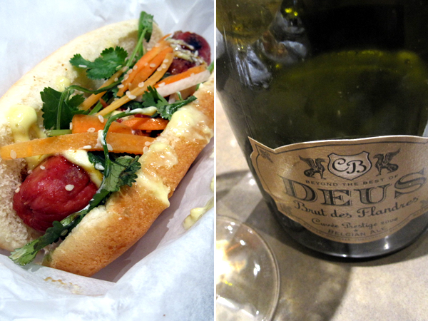 Slaw Dogs Thai paired with Deus Belgian Ale
