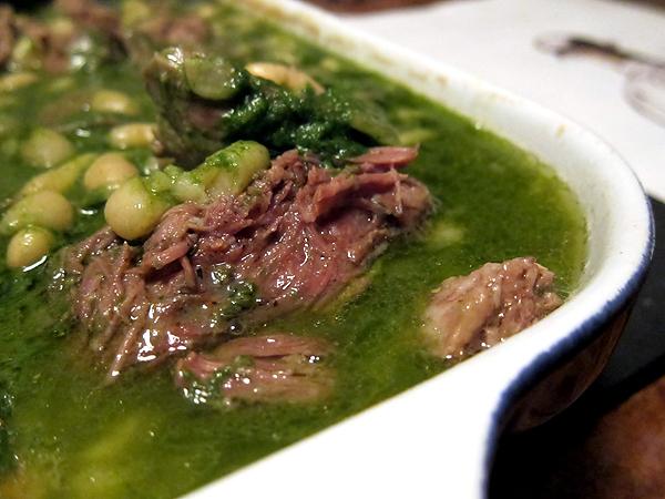 Montevertine Dinner - Roast Lamb Shoulder in Pesto with White Beans