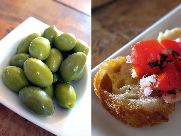 Montevertine Dinner, Cerignola and Castelveltrano Green Olives