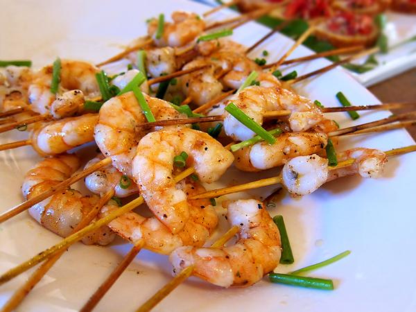 Montevertine Dinner, Shrimp