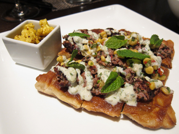 Lukshon - Lamb Sausage Roti Canai