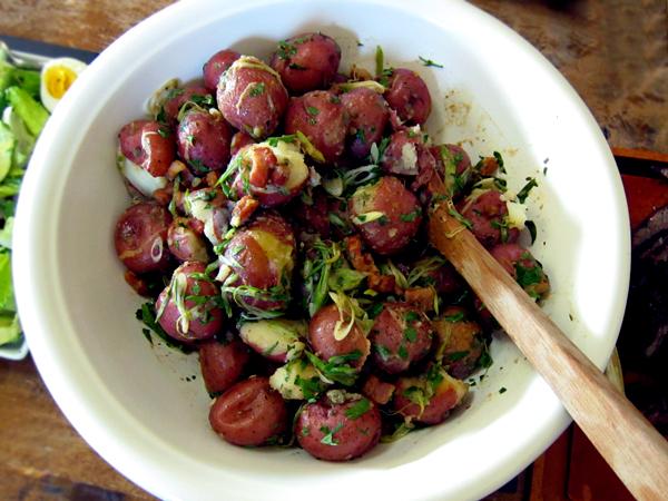 Jordan Toft Spring Grill Menu - Pancetta Potato Salad