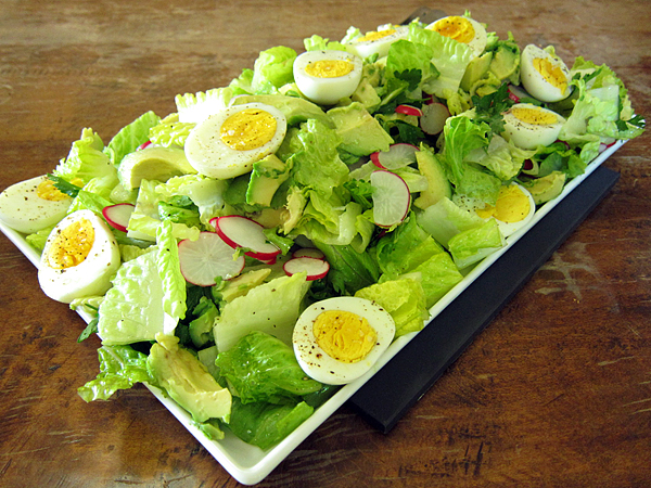 Jordan Toft Spring Grill Menu - Avocado Egg Radish Salad