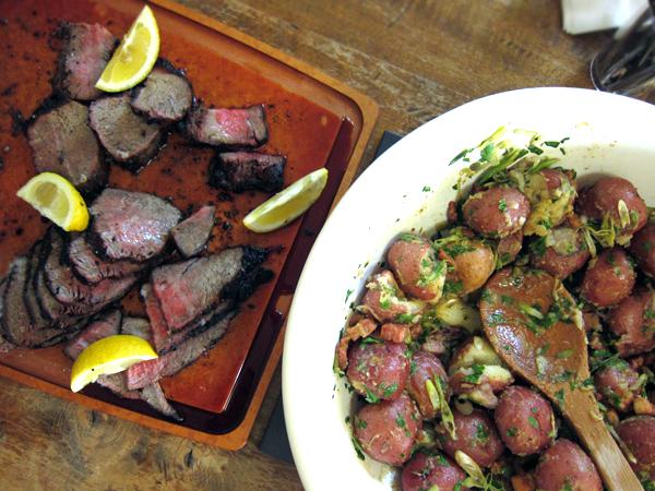 Jordan Toft Spring Grill Menu - Wagyu Tri Tip, Pancetta Potato Salad
