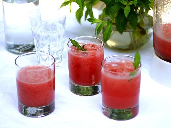 Watermelon Juice in Glasses