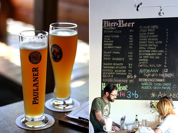 Wirtshaus - Paulaner Hefeweizen, Chalkboard menu
