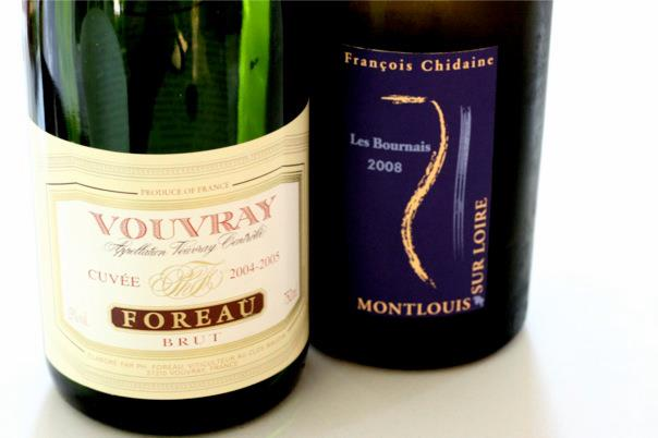 wine: Foreau Vouvray and Chidaine