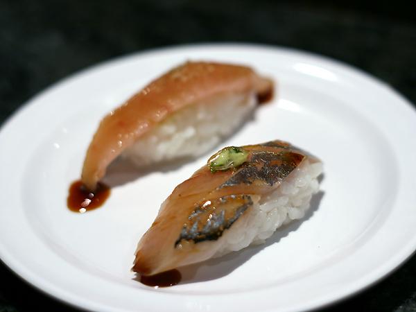 Sushi Park: spanish mackerel (aji), albacore toro