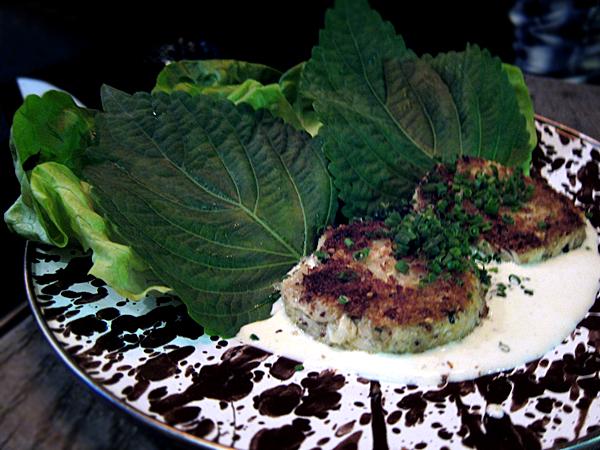 A-Frame restaurant - crab cakes