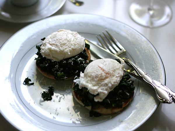 Kale Eggs Florentine