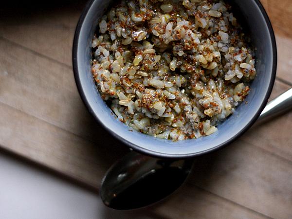 brown rice, flax, chia seeds