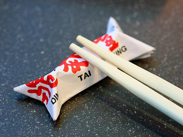 Din Tai Fung, LA - chopsticks
