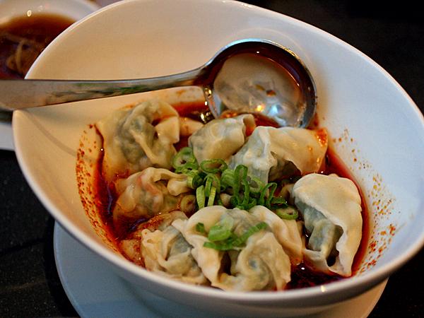 Din Tai Fung, LA - spicy dumplings