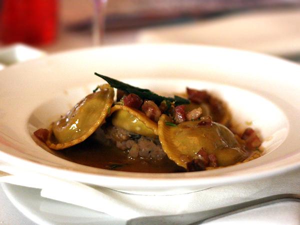 Pelican Hill - short rib ravioli