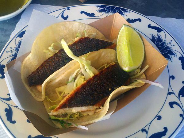 Escuela Taqueria - fish tacos