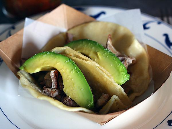 Escuela Taqueria - pork chuletas tacos