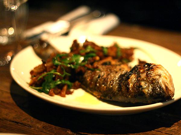 Sotto - market fish (orata) with bread salad
