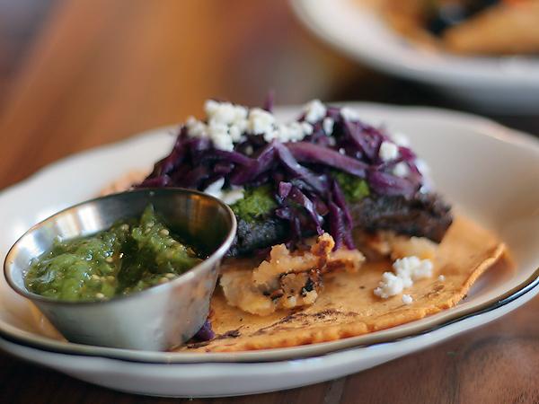 Tinga Tacos, La Brea - braised shrot rib tacos