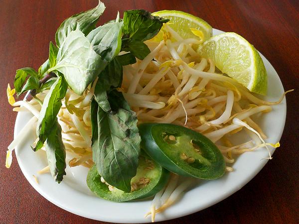 Unphogettable restaurant - sprouts, basil lime jalapeno garnish